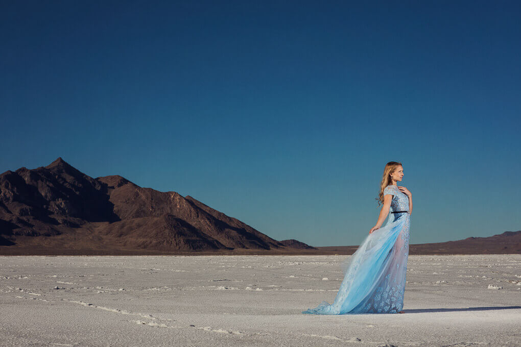 salt flat wedding portraits 1