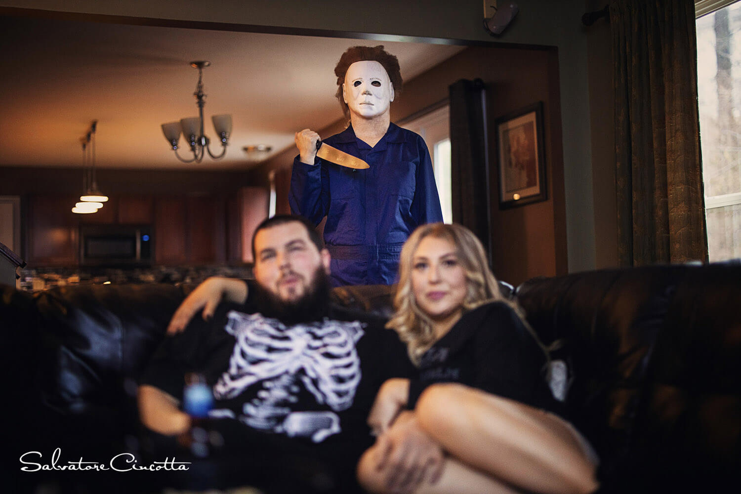 Halloween Themed Engagement Photography