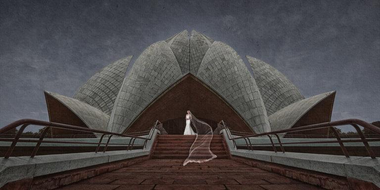 Destination bridal portrait