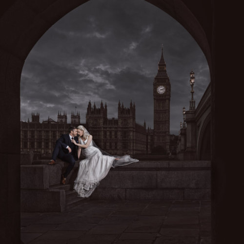 London England bride & groom