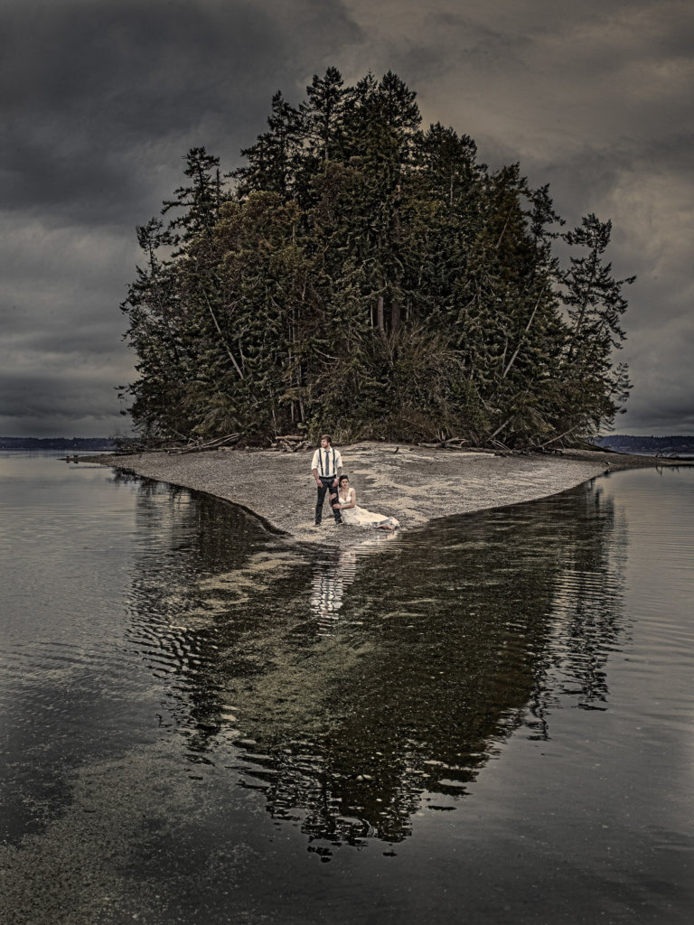 Destination wedding photography on an island