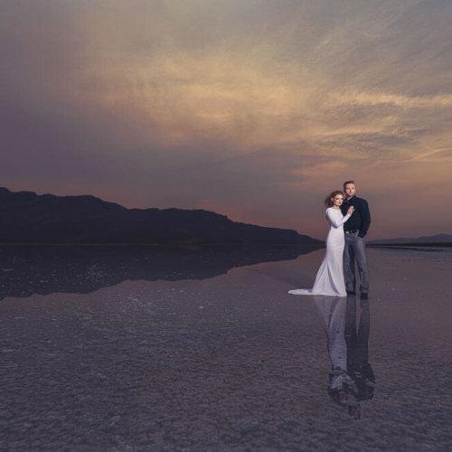 Bride & Groom in the Utah Salt Flats