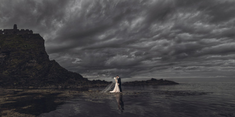 Bride & Groom at the ocean