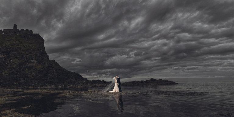 Bride & Groom at the ocean