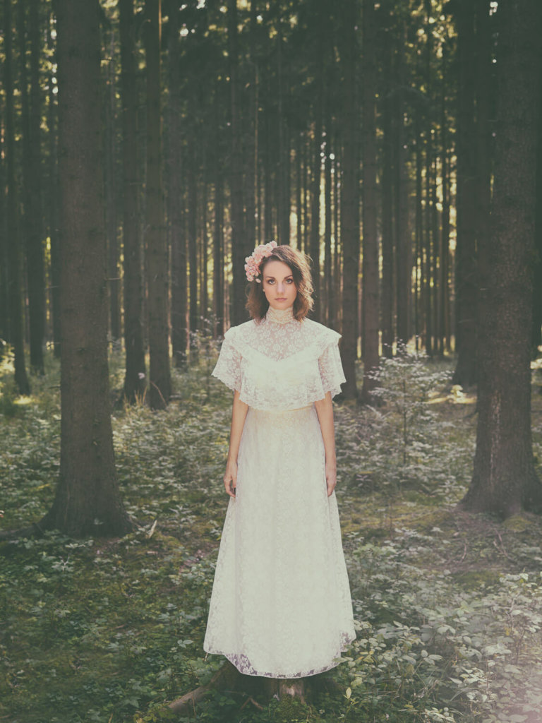 Bride in a forest